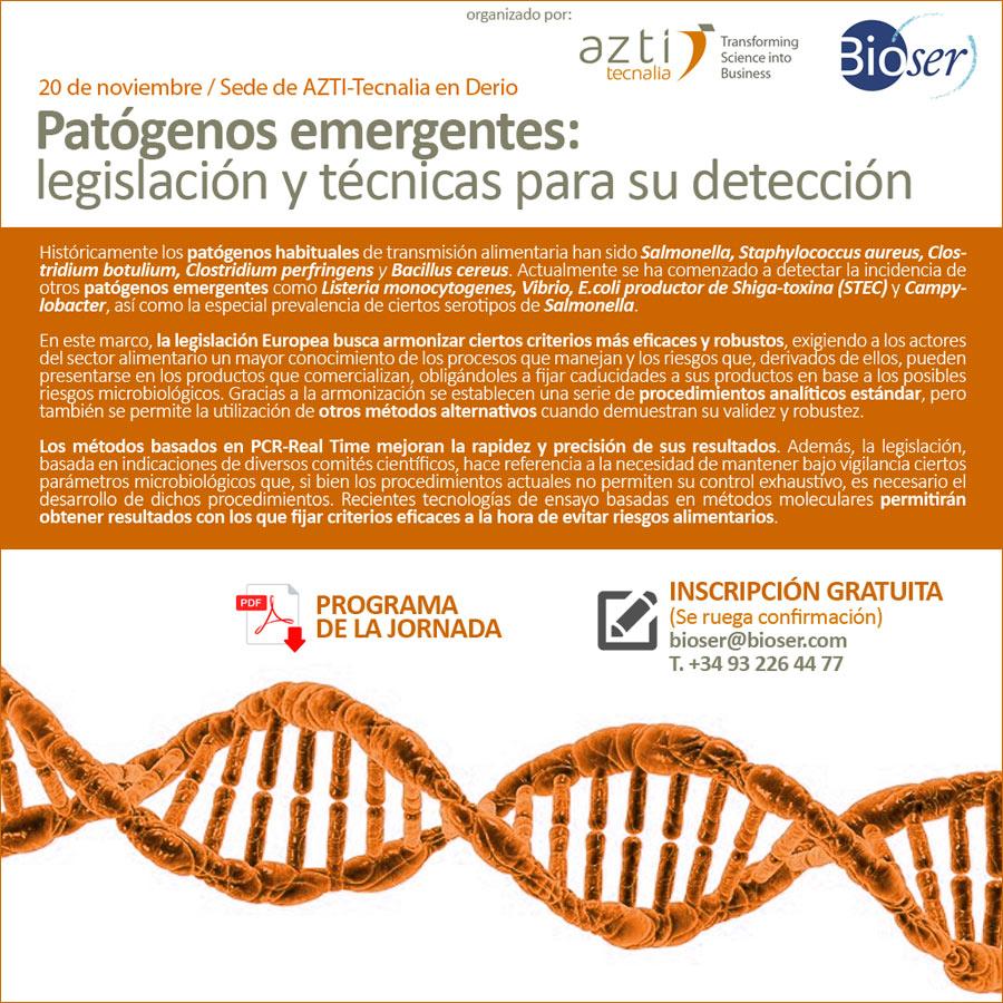 Jornada Técnica .:. Patógenos emergentes: legislación y técnicas para su detección