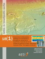 """RIM18(1): Variaciones multidecadales notables en la temperatura atmosférica, temperatura superficial y nivel del mar en el sudeste del golfo de Vizcaya, detectadas mediante filtros """"Kolmogorov-Zurbenko"""""""