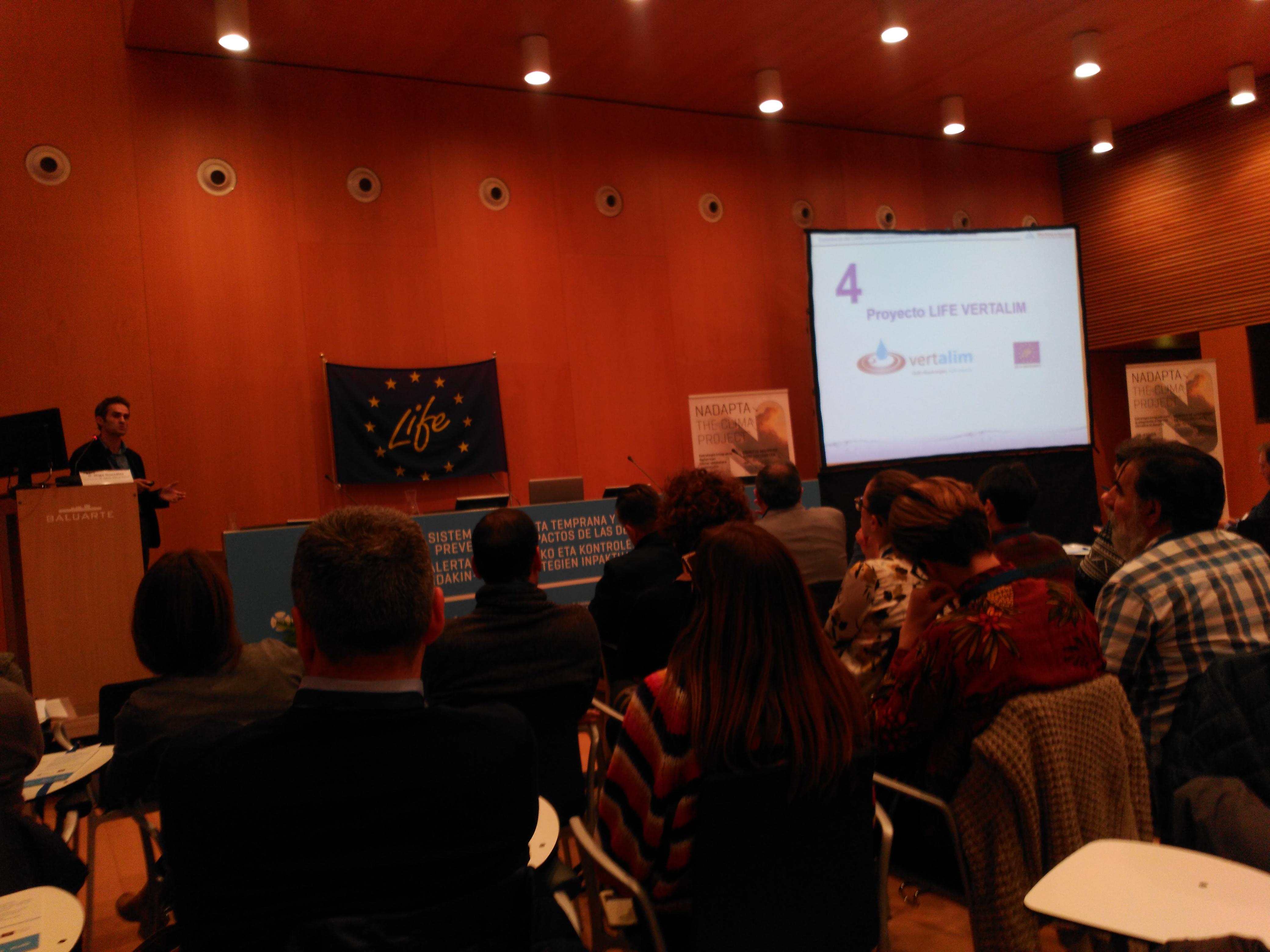 Iñigo Gonzalez en su presentación del proyecto LIFE VERTALIM