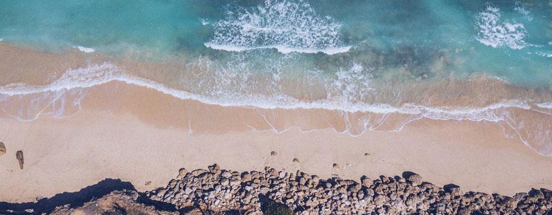 Playa desde una vista cenital