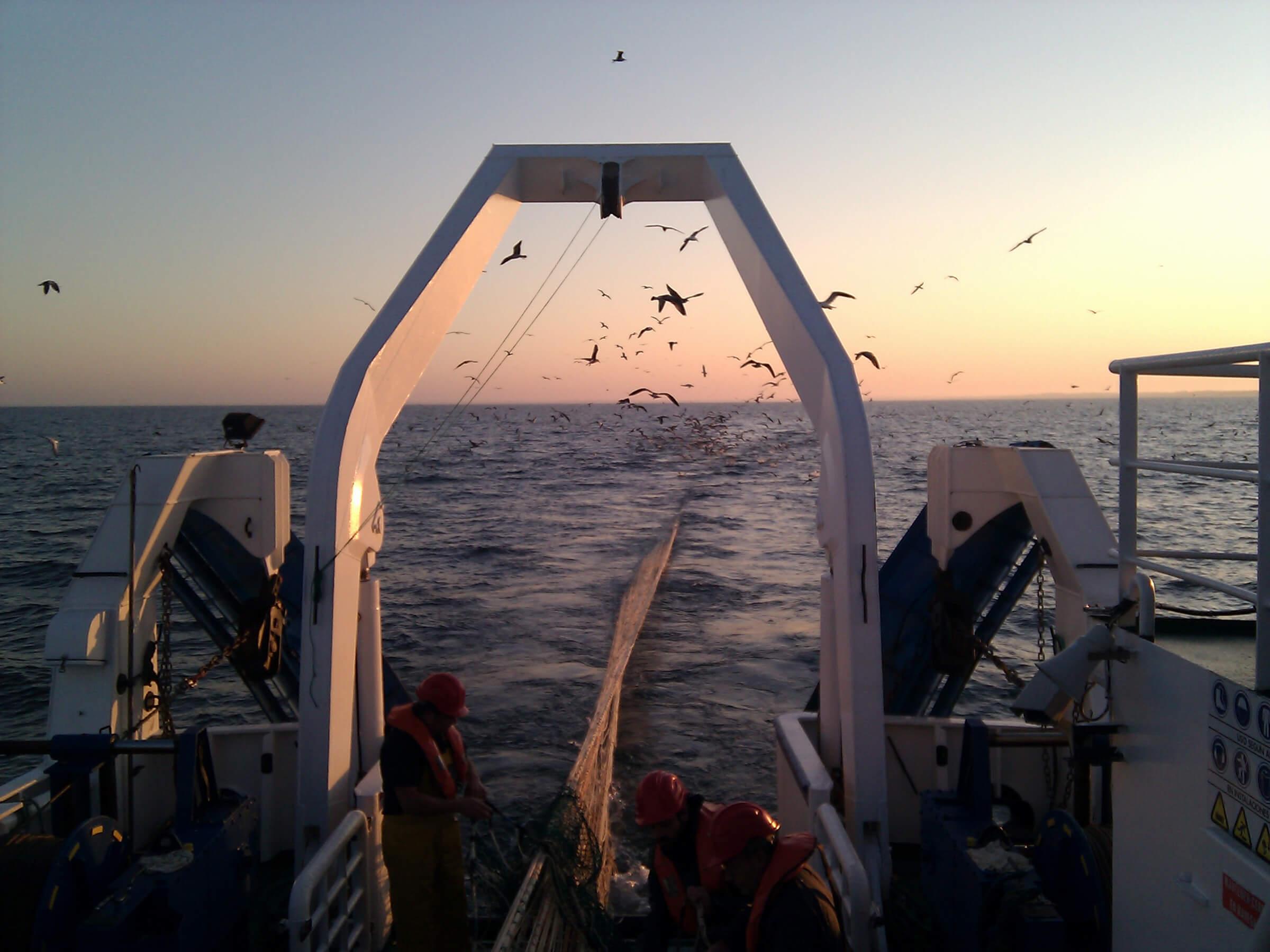 barco de pesca de arrastre