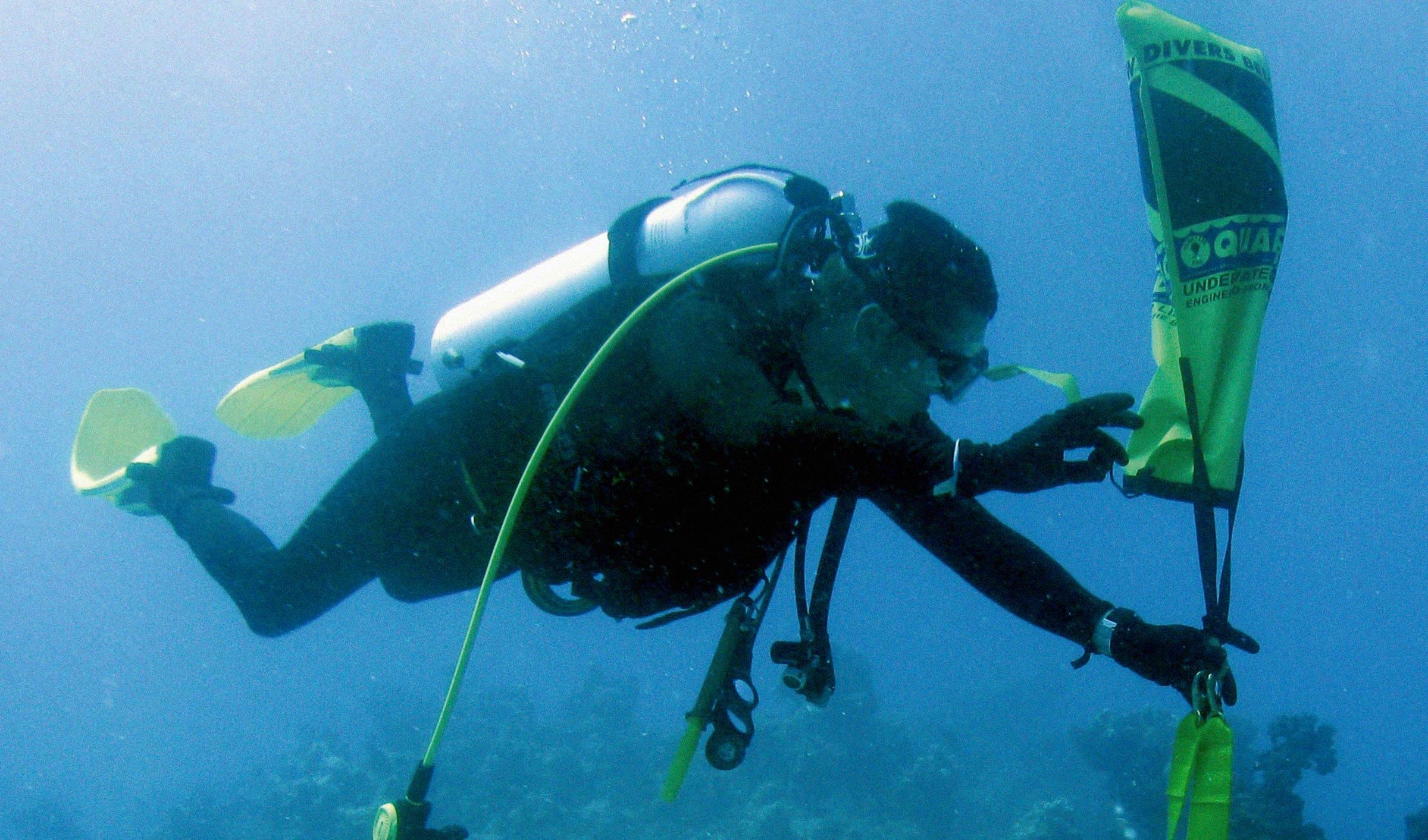 submarinista. Gestión ecosistemas marinos
