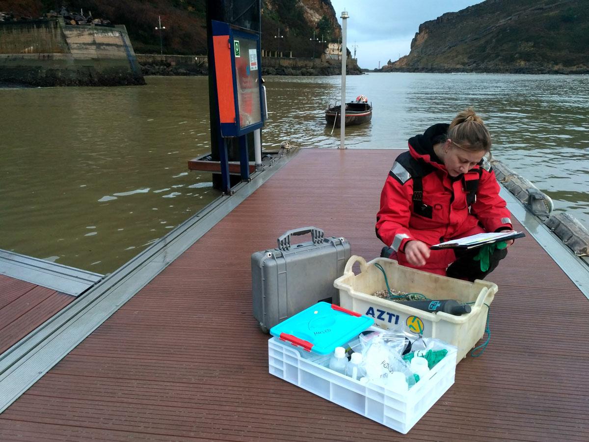 muestreo calidad de aguas marinas