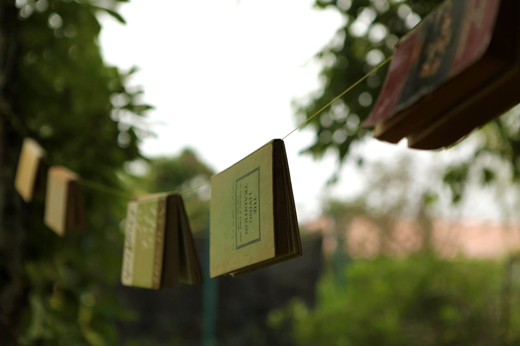 close-up-photo-of-book-hanging-on-clothes-line
