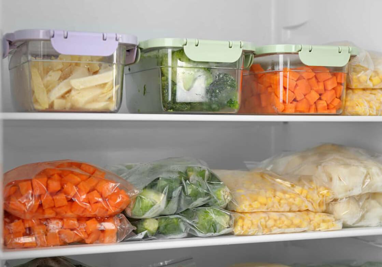 alimentación saludable congelada